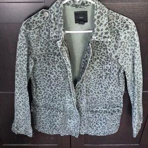 Jackets & Blazers - Forever 21 Animal print Military style jacket